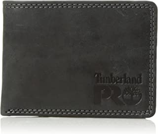 Timberland PRO Men's Leather Wallet with Removable Flip Pocket Card Carrier