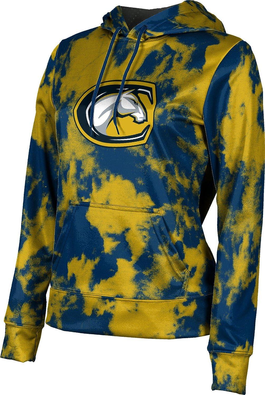 ProSphere University of California Davis Girls' Pullover Hoodie, School Spirit Sweatshirt (Grunge)