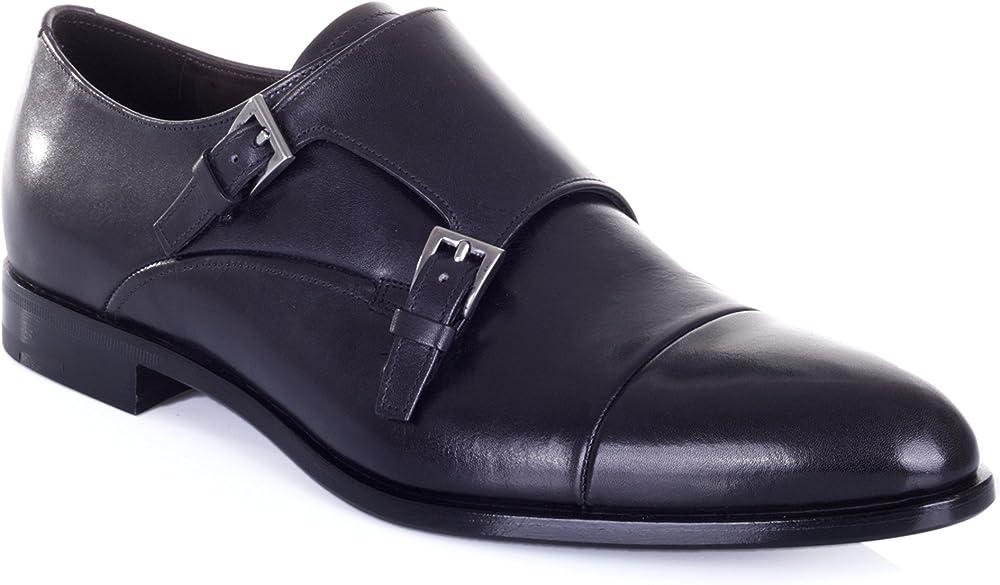 Prada scarpa classica da  uomo in pelle monk strap taglia 41 eu 20A009