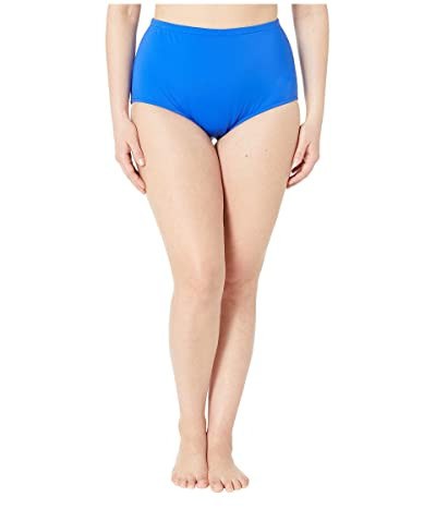 Maxine of Hollywood Swimwear Plus Size Solids Separate Full Pant Bottoms (Cobalt) Women