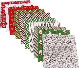Conjunto de 20 peças de tecido de algodão de Natal para artesanato de tecido de patchwork de costura xadrez xadrez tecido ...