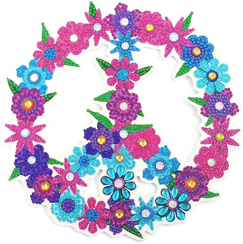 Rompecabezas de corona creativa hecha a mano con orquídeas de caballo, corona de adornos de resina de taladro completo por kit de números para adultos y niños
