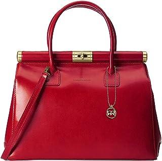 Roberta Rossi Borsa a mano Fashion femminile con tracolla casual moda Top handle bag Vera Pelle Vacchetta Made in Italy 35...