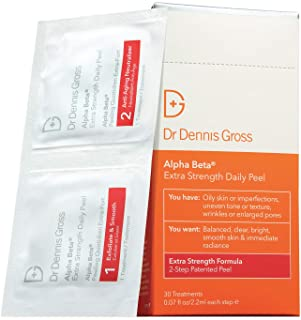 Dr. Dennis Gross Alpha Beta Extra Strength Daily Peel: for Oily Skin, Uneven Tone or Texture, Wrinkles or Enlarged Pores (...