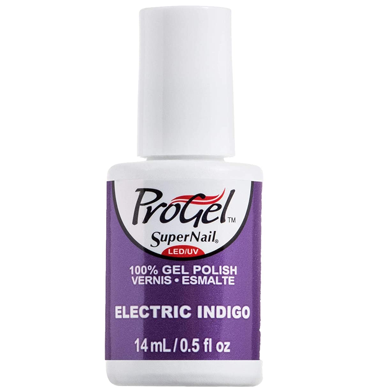 悪夢報奨金横向きSuperNail ProGel Gel Polish - Electric Indigo - 0.5oz / 14ml