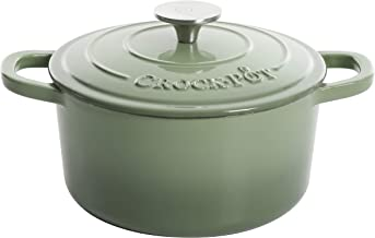 Crock-Pot Artisan Round Enameled Cast Iron Dutch Oven, 7-Quart, Pistachio Green