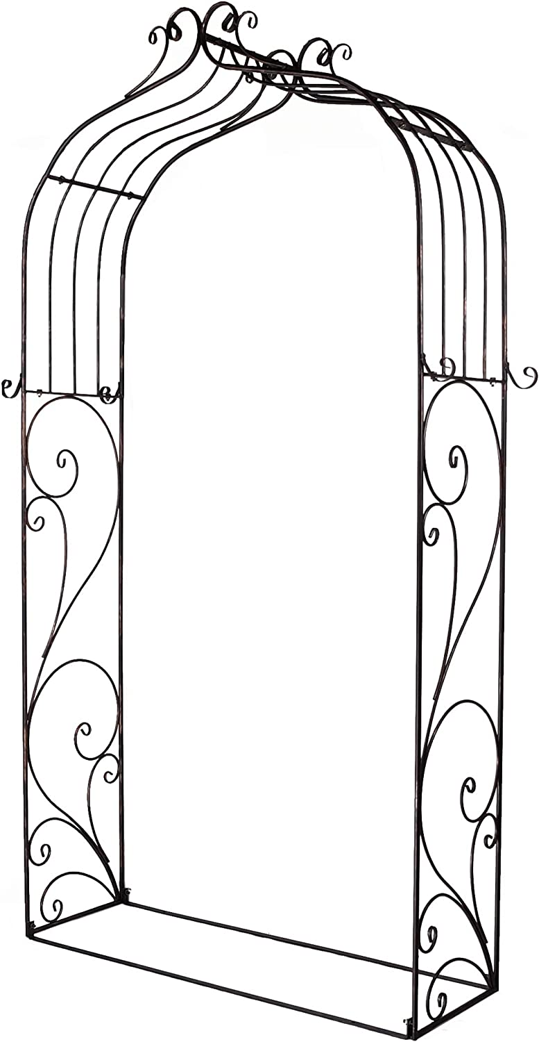 OUTOUR Classical French Style Garden Arch with Hook, 7'6