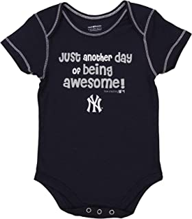 MLB Baby Boys Infant/Newborn 3-Piece Bodysuit Set, Team Options