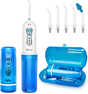 Travel Water Flosser, YaFex Professional Foldable Portable Dental Oral Irrigator with Sinus Rinse Nasal Irrigation Rechargeable Water Teeth Nose Wash Cleaner with Case for Home Travel, Braces Bridges