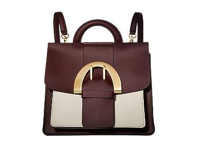 ZAC Zac Posen Biba Buckle Convertible Backpack Color Block (Vino) Backpack Bags