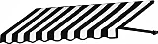 Awntech 6-Feet Dallas Retro Window/Entry Awning, 16-Inch Height by 30-Inch Diameter, Black/White