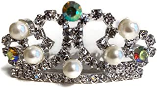 Dori`s Doll Boutique Pearls and Rhinestones Tiara Crown fits American Girl and Other 18 inch Dolls