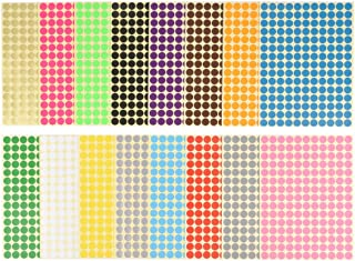 500 Etiquetas en un Rollo Claro Transparentee Circulo Punto Pegatinas 64 mm 2,5 Pulgadas Redondas