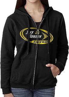 KOBT Women's Jeff Gordon-nascar Zip-Up Hoodies Jackets Black