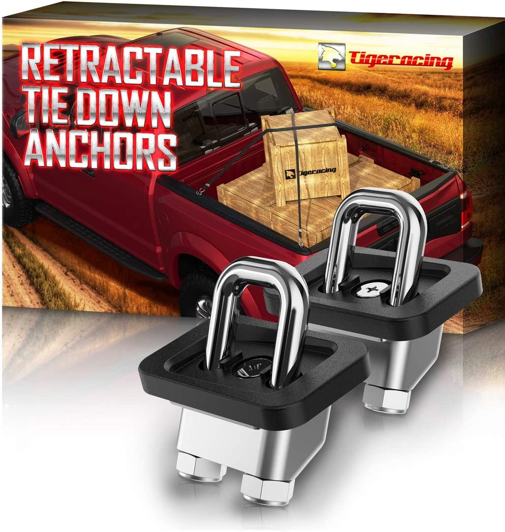 Tigeracing NEW before selling Recommended Tie Down Anchors Retractable Truck Ri Bed Side D Wall