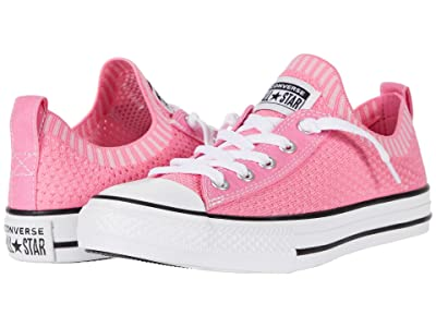 Converse Kids Chuck Taylor(r) All-Star(r) Shoreline Knit (Little Kid/Big Kid) (Pink/Black/White) Girls Shoes