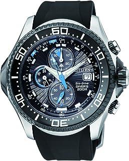 Citizen - Promaster BJ2111-08E - Reloj cronógrafo de Cuarzo para Hombre, Correa de Goma Color Negro