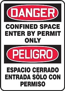 Accuform Signs SBMCSP133VS Adhesive Vinyl Spanish Bilingual Sign, Legend