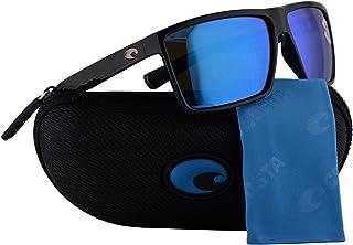 1506b24e70f62 Costa Del Mar Rincon Sunglasses Shiny Black w Polarized Glass Blue Mirror  580G Lens 63.5