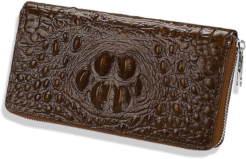 Fadacai Wristlet Wallet For Women Crocodile Leather Wallet Ladies Clutch Purses
