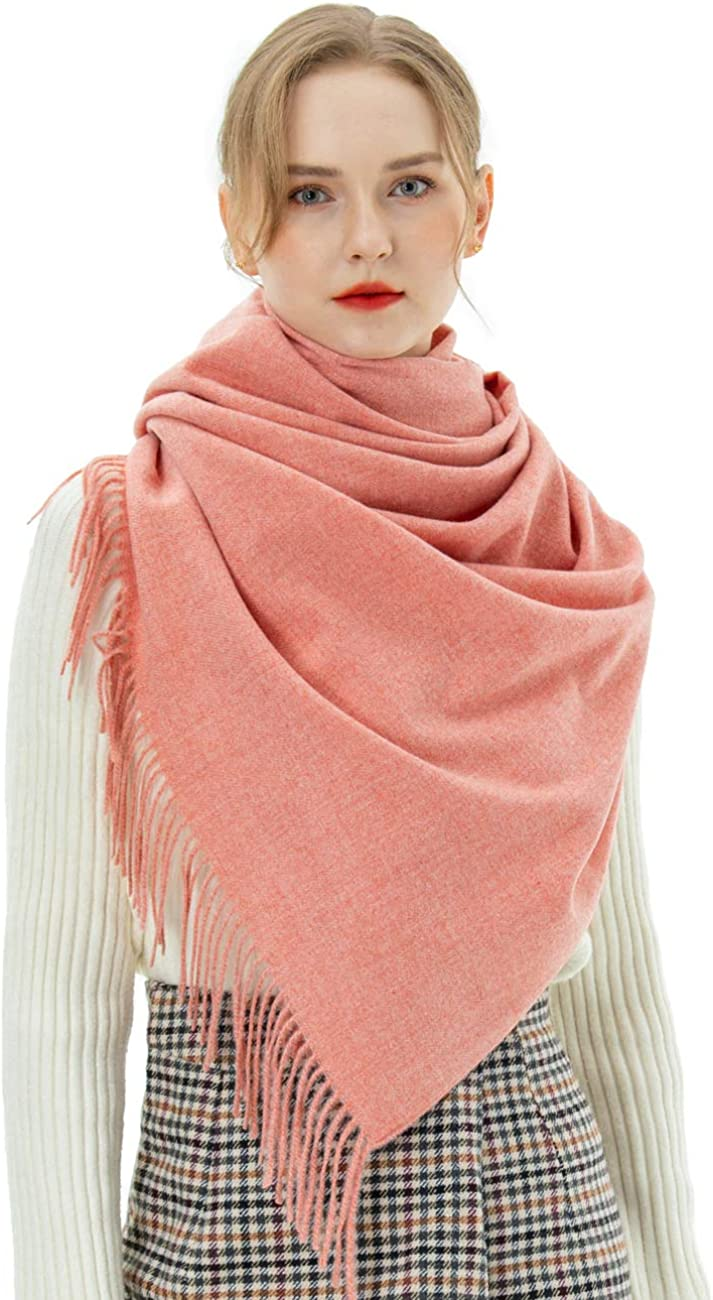 Winter Ladies Scarves Long Solid Colour Warm Scarf Blanket Shawl Scarf for Men Women /…