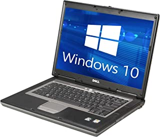 Dell Latitude D820 Laptop Notebook Core 2 Duo 2.0GHz - 2GB DDR2 - 60GB - DVD+CDRW - Windows 10 Home 32bit - (Renewed)