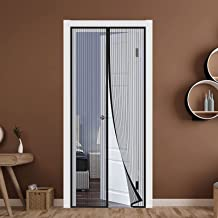 Muggennet Voor Deuren 160 x 220 cm Met Duurzaam Magnetische Vliegengaas Zonder Boren voor Balkon Woonkamer of Terrasdeur -