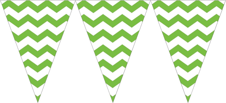 WimpelGirlande  Crazy Stripes  2,74 m green