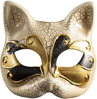 Venetian Masquerade Masks Cat Face Mask Halloween Costume Mardi Gras Eye Mask BK004