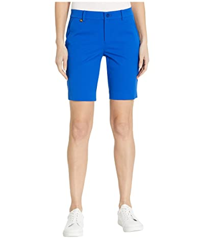 LAUREN Ralph Lauren Petite Bi-Stretch Twill Shorts (Blue Glacier) Women