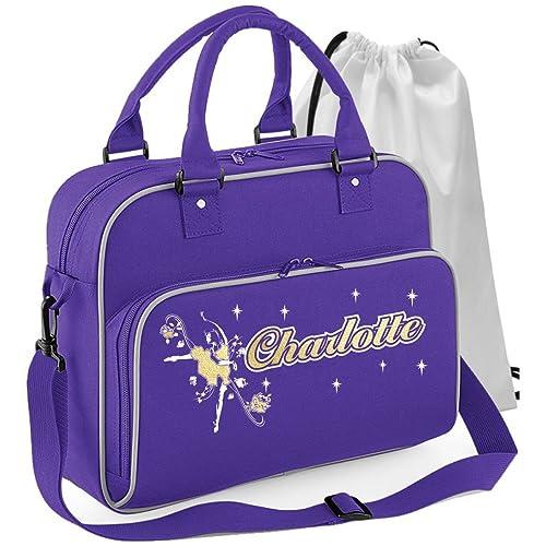 MusicaliTee Ballet Dancer - Dancing Girl Flowers - Personalised Custom  Dance Bag   Drawstring Shoe Backpack 314a0b089e
