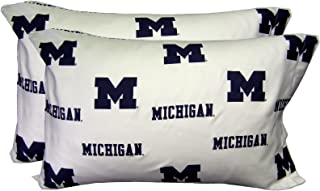 College Covers Michigan Wolverines Pillowcase Pair, Standard, White