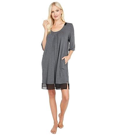 Donna Karan Modal Spandex Sleepshirt (Charcoal Heather) Women