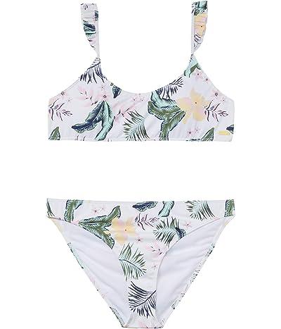 Roxy Kids Lovely Senorita Bralette Swimsuit Set (Big Kids) (Bright White RG Praslin) Girl