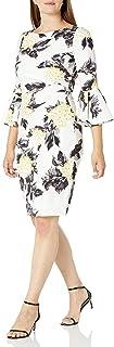 فستان ضيق ضيق جانبي للنساء من Jessica Howard بأكمام جرس