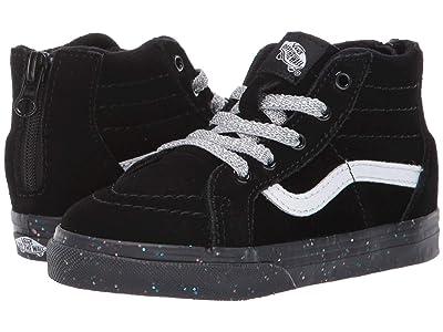 Vans Kids Sk8-Hi Zip (Infant/Toddler) ((MTE) Glitter Sidewall/Black) Girls Shoes