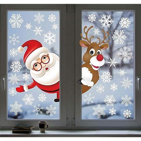 NT0206 Wall Stickers Vetrofanie Natale Babbo Natale Giocoliere