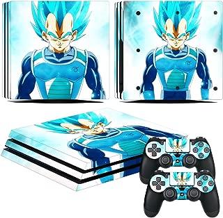 EBTY-Dreams Inc. - Sony Playstation 4 Pro (PS4 Pro) - Dragon Ball Z (DBZ) Anime Vegeta Super Saiyan Vinyl Skin Sticker Decal