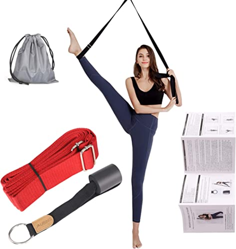 UBING Leg Stretcher, Door Flexibility Trainer, Over The Door Strech Strap for Flexibility, Splits Trainer for Dance B...