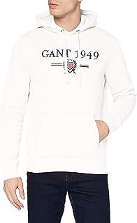 GANT D1. 1949 Crest Sweat Hoodie Felpa con Cappuccio, Eggshell, 113 Uomo