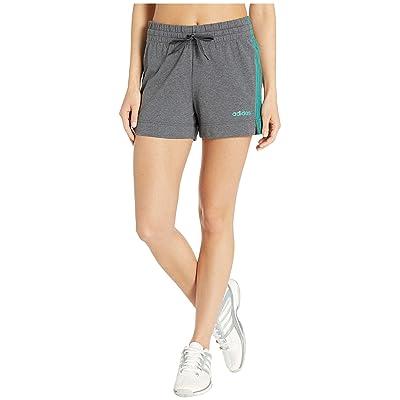 adidas Essential 3-Stripes Shorts (Dark Grey Heather) Women