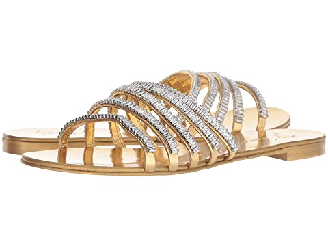 Giuseppe Zanotti Michela Rhinestone Chain Strap Flat Sandal