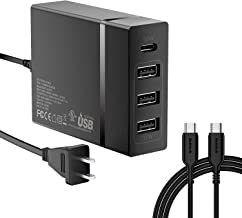 USB C Wall Charger, Nekteck 72W 4 Ports Desktop Charging Station, One 60W Type C PD Port for Laptops, MacBook Pro 13in/Air, XPS, iPad Pro 2018, HP Spectre, 3 USB Ports for iPhone Xs/Max, Pixel, S10/S9