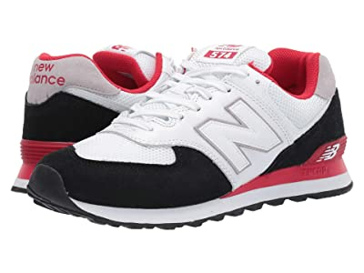 New Balance Classics ML574 Summer Sport (Black/Team Red) Men