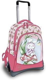 Pigna, Zaino, Zaino per Scuola Materna e Elementare, Zaino Bambina e Bambino con 3 scomparti, Zaino con Trolley, modello F...
