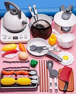 40 Pieces Toy Kitchen Playsets, Kids Toy Kitchen Kitchen Pretend Play Child Cooking Toy Kids Kitchen Accessories Kitchen C...
