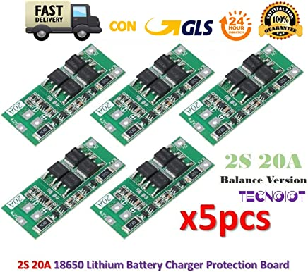 TECNOIOT 7S 20A Li-Ion Lithium Battery BMS PCB 18650 Charger Protection Board