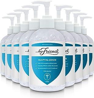 Buy in Bulk Essential Hand Sanitiser Gel (Pack of 24 x 500ML Dispensers) 75% Alcohol, FDA & TGA Approved, Kills Up TO 99% ...