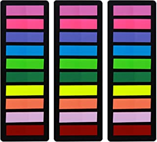 Page Markers Sticky Index Tabs, Arrow Flag Tabs Colored Sticky Notes for Page Marker Bookmarks [10 Primary Colors, 600 Pie...