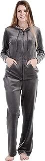 Dolcevida Women's Velour Tracksuits 2 Piece Outfits Hoodie & Sweatpants Sweatsuit Set